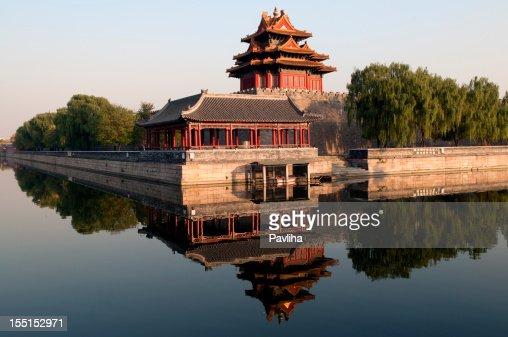 Northwest Wall of Forbidden City Beijing China