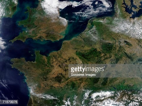 'Northwestern Europe., satellite image' : Stock Photo