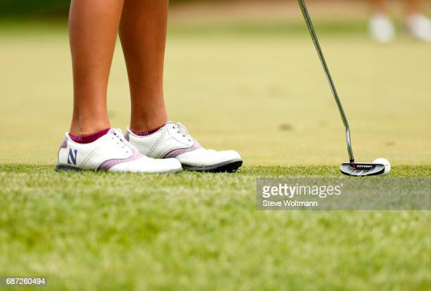Northwestern's Hannah Kim putts out of the rough during the Division I Women's Golf Individual Championship held at Rich Harvest Farms on May 22 2017...