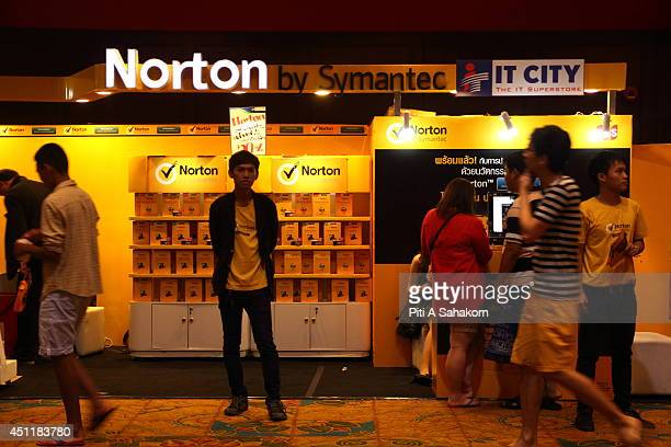 Norton antivirus on display at the Commart NextGen 2014 in Bangkok One of the most comprehensive events for new technology and innovative IT...