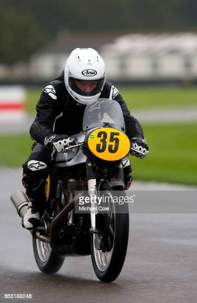 Norton Manx 500 ridden by entrant Keith Bush Derek Crutchlow in the Barry Sheene Memorial Trophy at Goodwood on September 8th 2017 in Chichester...