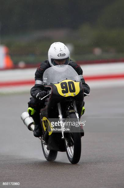 Norton Manz 500 ridden by entrant Andy Clews Sam Clews in the Barry Sheene Memorial Trophy at Goodwood on September 8th 2017 in Chichester England