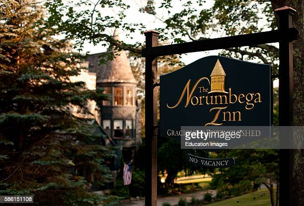 Norumbega Inn outdoor sign Norumbega Inn Camden ME