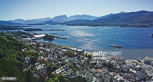 Nature landscapes and also humans are worth a journey At the western fjord coast the city Alesund
