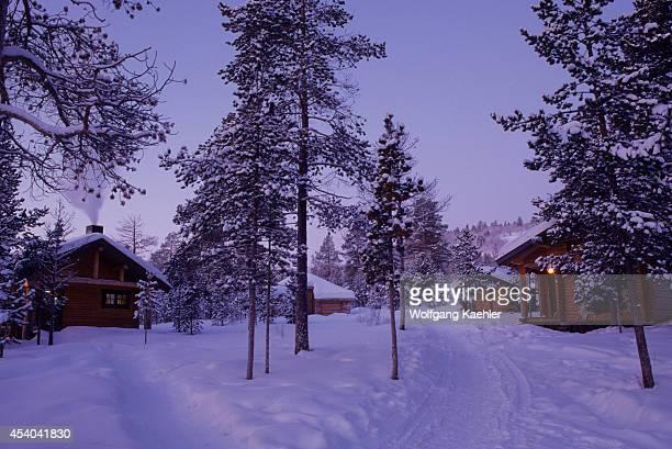 Norway Finnmark Near Karasjok Engholm's House In Midwinter Cabins