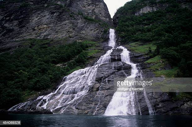 Norway Geiranger Fjord Suitor Waterfall