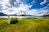 Landscape of Haukland Beach in Norway