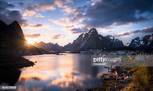 Norway, Lofoten, Reine at twilight