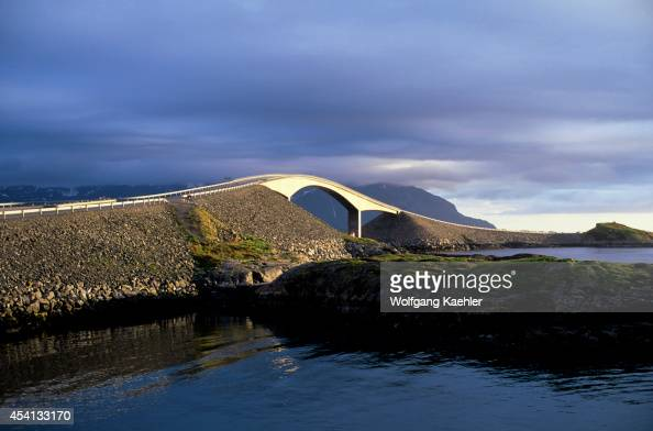 Norway Near Molde Atlantic Ocean Road Bridge