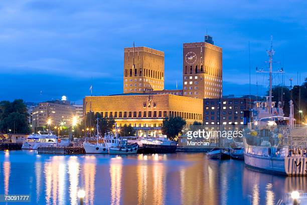 Norway, Oslo, Waterfront by town hall