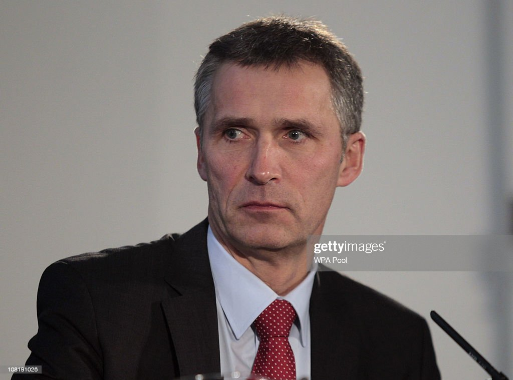 Norway Prime Minister <a gi-track='captionPersonalityLinkClicked' href=/galleries/search?phrase=Jens+Stoltenberg&family=editorial&specificpeople=558620 ng-click='$event.stopPropagation()'>Jens Stoltenberg</a> pauses during the UK Nordic Baltic Summit, at Downing Street, on January 20, 2011 in London, England. Leaders from UK, Iceland, Lithuania, Finland, Latvia, Estonia, Sweden, Norway and Denmark gathered for the two-day summit to discuss boosting economic growth, enterprise and job creation.