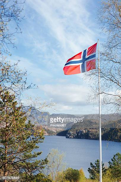 Norway, Stavanger, Norwegian national flag