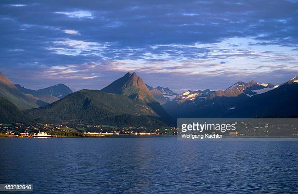 Norway Storfjord View Of Mountains And Village