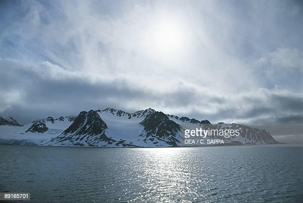 Norway Svalbard Islands Northwestern coast sunrise