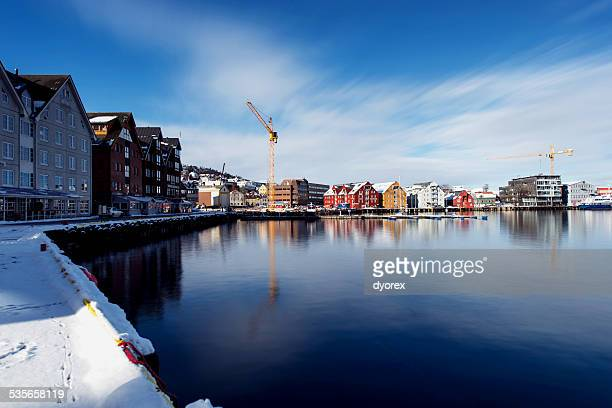 Norway, Torso, Winter view of town