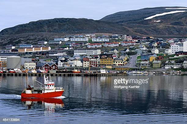 Norway View Of Hammerfest Fishing Boat