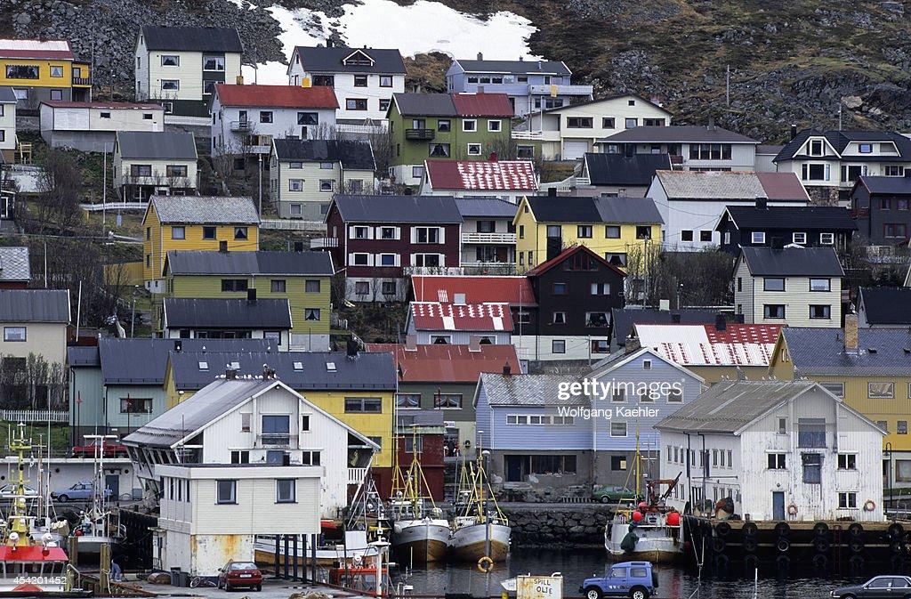 Norway, View Of Honningsvag.