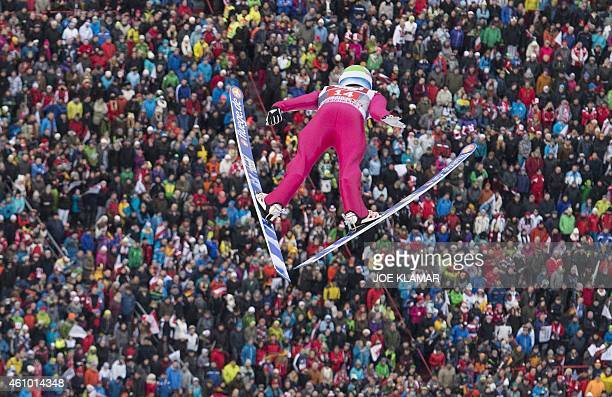 Norway's Anders Jacobsen competes during the Four Hills competition of the FIS Ski Jumping World cup in Innsbruck Austria on January 4 2015 AFP PHOTO...
