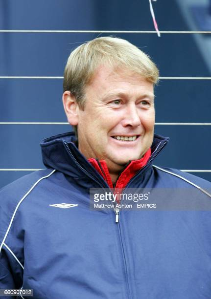 Norway's coach Aage Hareide watches his team in action against Scotland