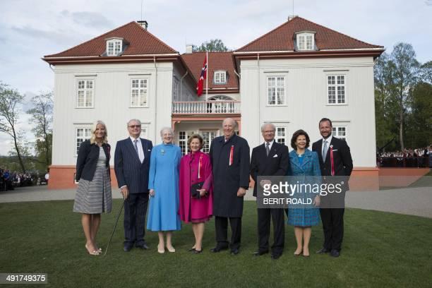 Norway's Crown Princess MetteMarit Prince Henrik of Denmark Queen Margrethe of Denmark Queen Sonja of Norway King Harald of Norway King Carl Gustaf...