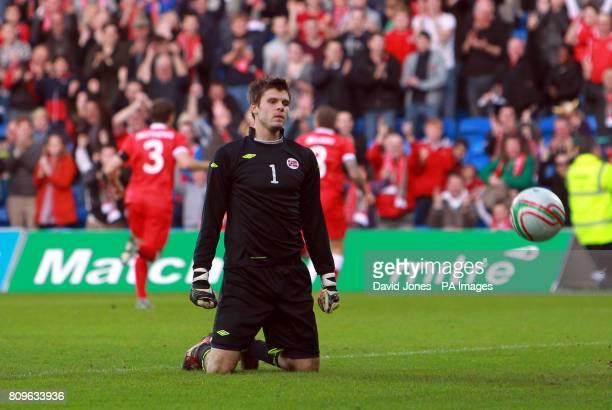 Norway's goalkeeper Rune Aklmenning Jarstein during the International Friendly at Cardiff City Stadium Cardiff