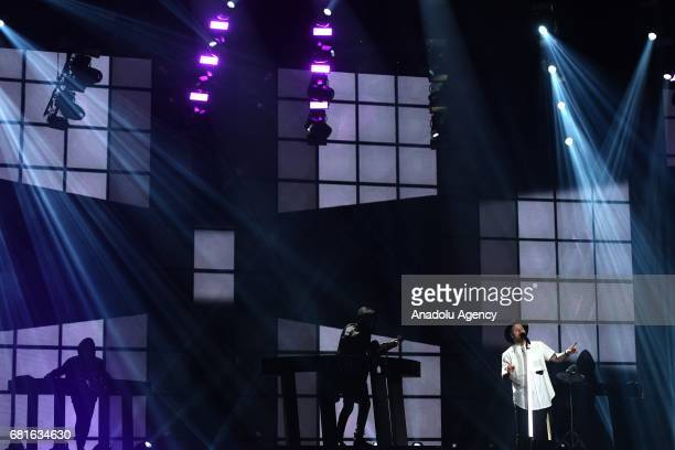 Norway's JOWST band perform the song 'Grab the moment' during the second semifinal dress rehearsal of Eurovision Song Contest 2017 at the...