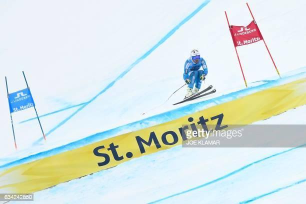Norway's Kjetil Jansrud competes in the men's SuperG race at the 2017 FIS Alpine World Ski Championships in St Moritz on February 8 2017 / AFP / JOE...