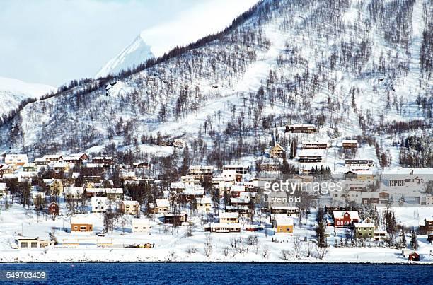 Norwegen ca BergenStadtansicht
