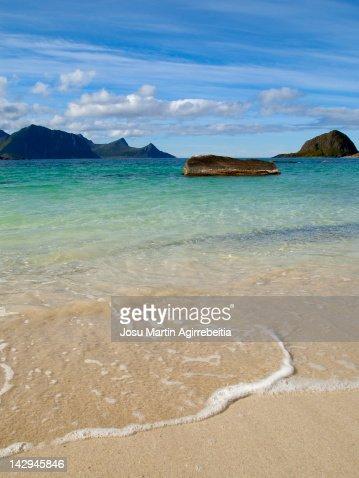 Norwegian beach : Stock Photo