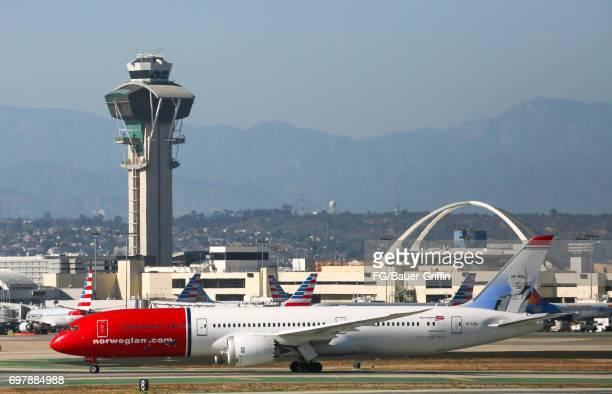 Norwegian Boeing 787 Dreamliner at Los Angeles International Airport on June 18 2017 in Los Angeles California