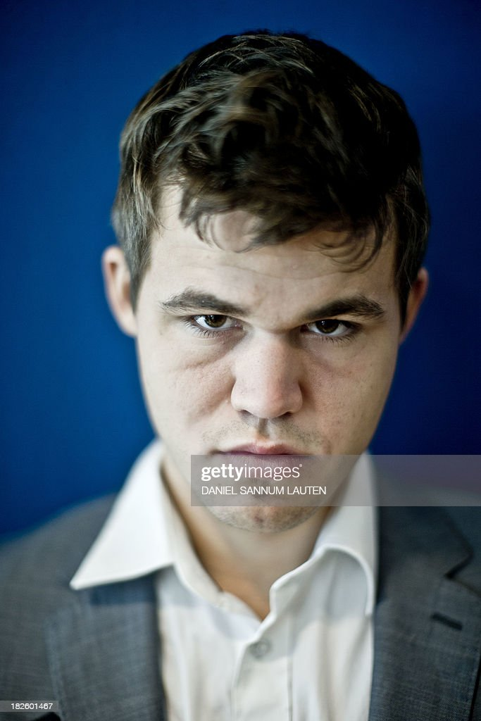 Norwegian chess genius Magnus Carlsen attends a press conference in Oslo on October 1, 2013. Carlsen, ranked world number one, will play the title match against Chennai-based reigning world champion Viswanathan Anand of India in his home town from November 7 to 28.