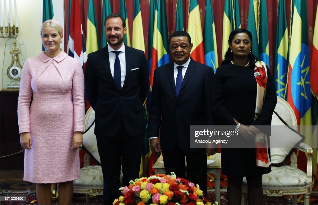 Norwegian Crown Prince Haakon meets President of Ethiopia, Dr. Mulatu Teshome Wirtu in Addis Ababa, Ethiopia on November 7, 2017.