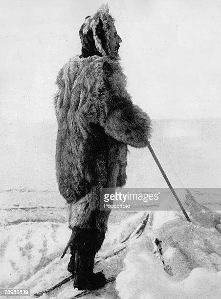 Norwegian explorer Roald Amundsen 18781928 wearing polar dress He was the first man to reach the South Pole in 1911