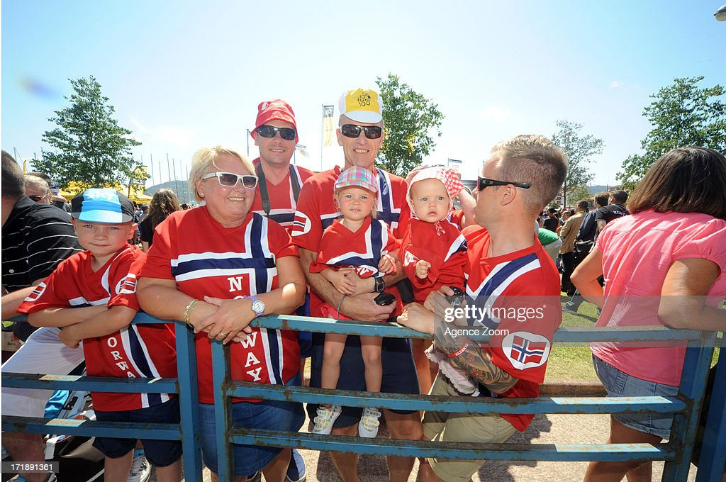 Norwegian fans during Stage 1 of the Tour de France from Porto-Vecchio to Bastia on June 29, 2013 in Bastia, France..