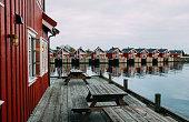 Norwegian fishing village in Lofoten islands