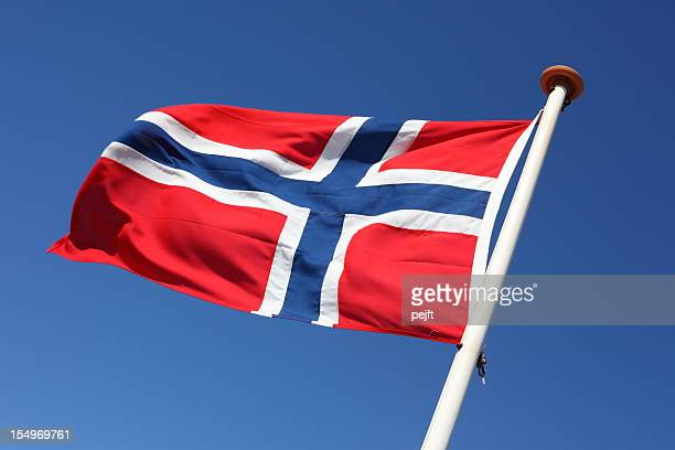 Norwegian Flag blowing in the wind