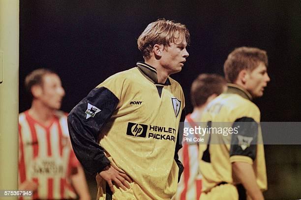 Norwegian footballer Steffen Iversen of Tottenham Hotspur on the field during an English Premiership League match against Sunderland AFC at Roker...