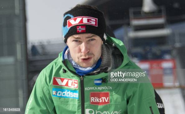 Norwegian jumper Anders Jacobsen is pictured after the cancellation of the FIS Ski Jumping World Cup individual large hill competition on the...