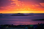 Norwegian landscape in the midnight sun