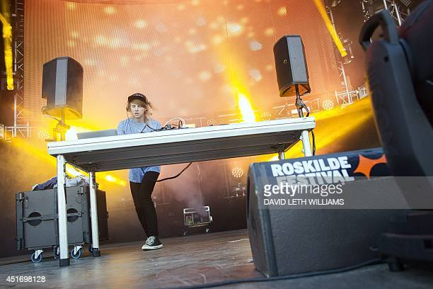 Norwegian Magnus August Hoeiberg known as Cashmere Cat performs on July 4 2014 at the Roskilde Festival AFP PHOTO/ Scanpix 2014 / David Leth Williams...