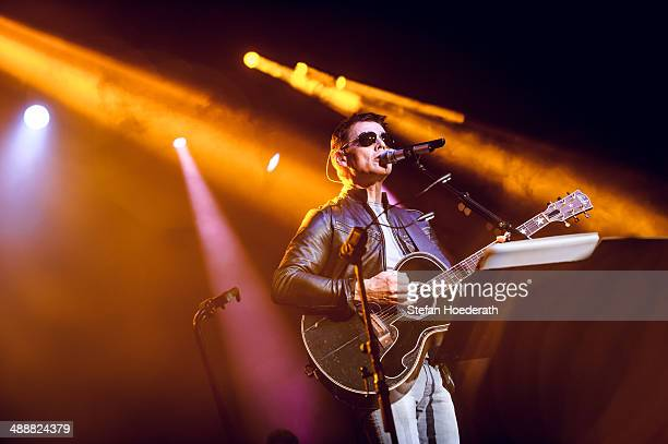 Norwegian singer Morten Harket performs live during a concert at Columbiahalle on May 8 2014 in Berlin Germany