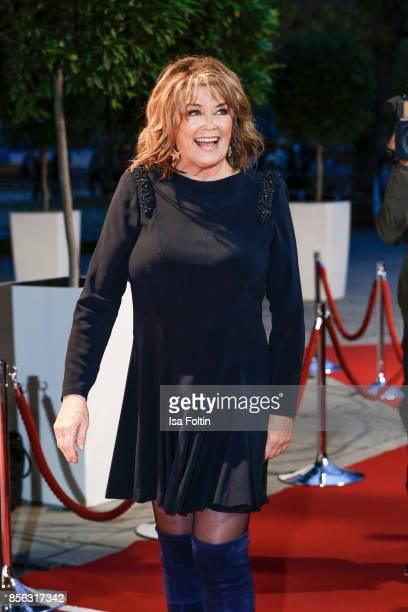 Norwegian singer Wencke Myhre arrives at the tv show 'Willkommen bei Carmen Nebel' at TUI Arena on September 30 2017 in Hanover Germany