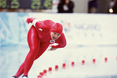 Norwegian speed skater Edel Therese Hoiseth competes in the women's 1000m at MWave during the 1998 Winter Olympic games