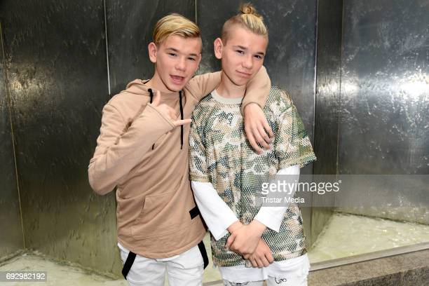 Norwegian twin brothers pop duo and teen stars Marcus Martinus Photo Session on June 6 2017 in Berlin Germany