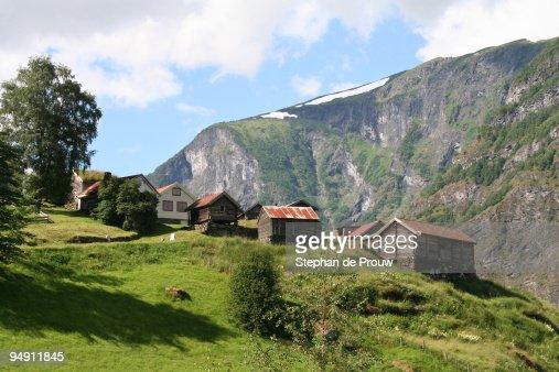 Norwegian village of Otternes