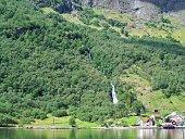 Norwegian village view