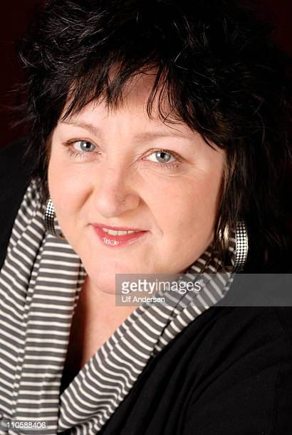 Norwegian writer Anne B Ragde poses during a portrait session held on March 18 2011 in Paris France