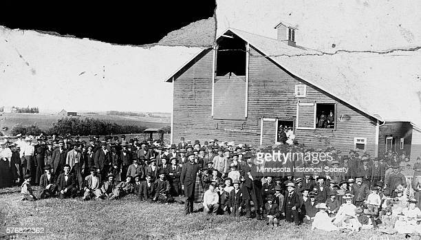 Norwegians from Deuel and Codington counties in South Dakota gather on May 17 1890 at the Lou Norman farm in Hidewood Valley | Location Brandt...