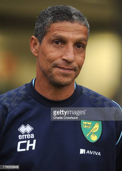 Norwich City manager Chris Hughton during the pre season friendly match between Brighton Hove Albion and Norwich City at The Amex Stadium on July 30...