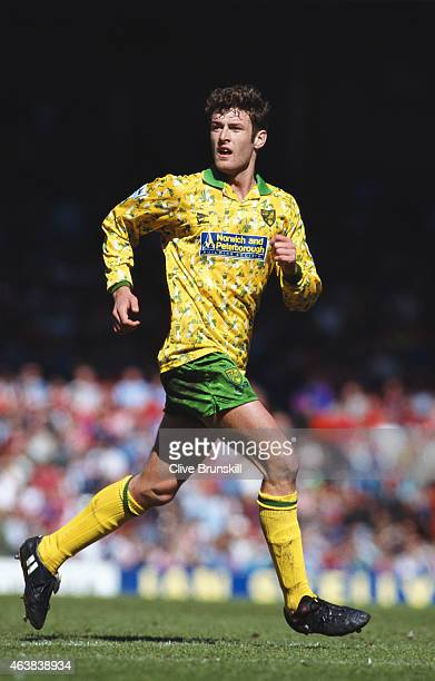 Norwich City player Chris Sutton in action during an FA Carling Premiership match at Anfield on April 30 1994 in Liverpool England